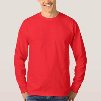 Röd manar grundläggande långärmadT-tröja DJUPT - Tee
