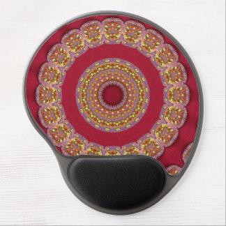 Röd Mandala för guldgultrosettes Gelé Musmatta