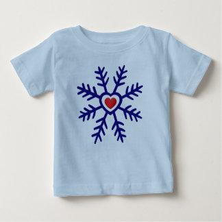 Röd marin för hjärtaSnowflakejul | T-shirts
