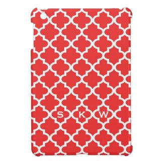 Röd marockansk tegelsten belägger med tegel monogr iPad mini mobil skydd