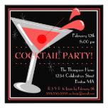 Röd Martini cocktailpartyinbjudan Skräddarsydda Inbjudan