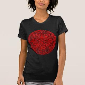 Röd Mayan kalender T Shirts
