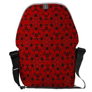 Röd messenger bag för spindelhuggtandKaleidoscope