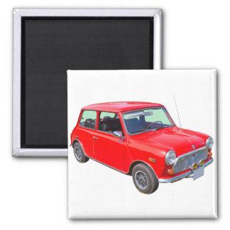 Röd mini- Cooperantikvitetbil Magnet