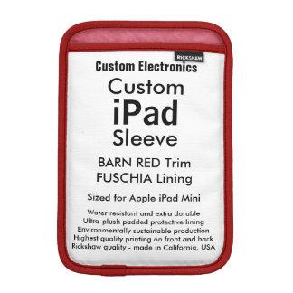 Röd mini- sleeve för beställnings- iPad - &