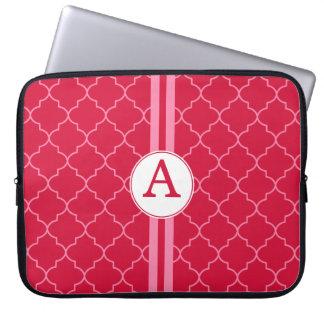 Röd Monogramlaptop sleeve Datorskydd