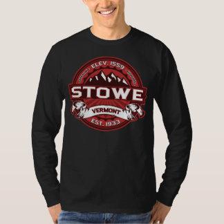 Röd mörk för Stowe logotyp Tröja