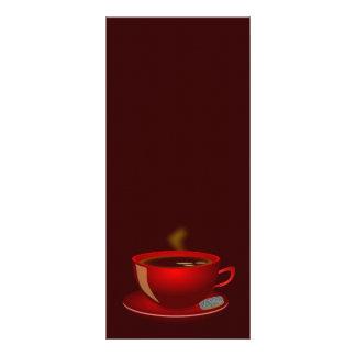 röd mugg för cup_of_tea_Vector_ClipartTEAKAFFE Anpassade Rackkort