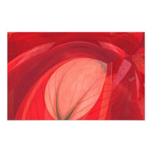 Röd natur konstfoto