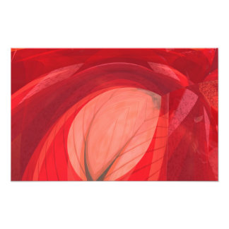 Röd natur fototryck