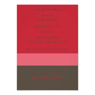 (Röd) Neapolitan inbjudan, 12,7 X 17,8 Cm Inbjudningskort