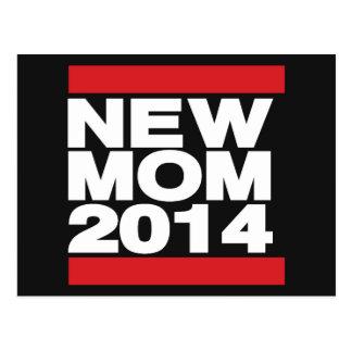 Röd ny mamma 2014 vykort