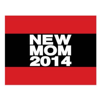 Röd ny mamma Lg 2014 Vykort