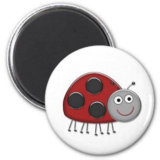 Röd nyckelpiga magnet