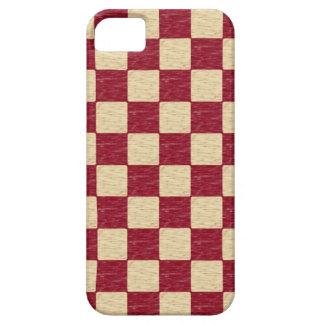 Röd och beige rutig iphone case för mörk - iPhone 5 Case-Mate skal