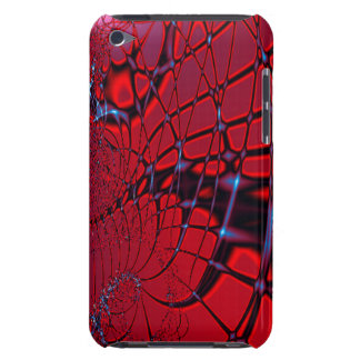 Röd och blåttFractal Barely There iPod Skyddande Skydd