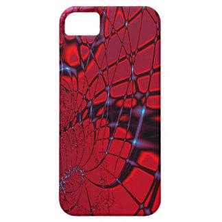 Röd och blåttFractal iPhone 5 Skal