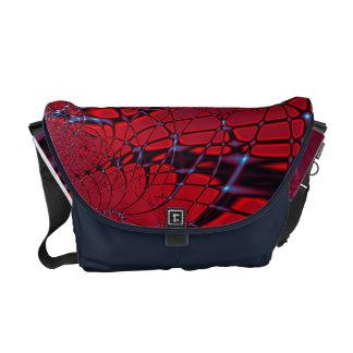Röd och blåttFractal Kurir Väskor