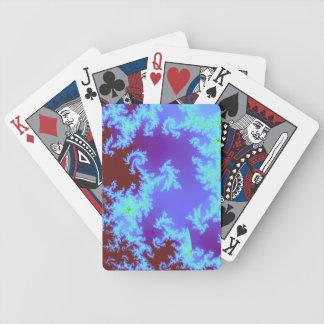 Röd och blåttfractal som leker kort spelkort