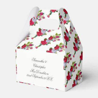 Röd och blom- bröllopbukett för vit ros presentaskar