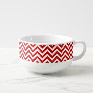 Röd och för sparresicksack för vit stort mönster soppmugg