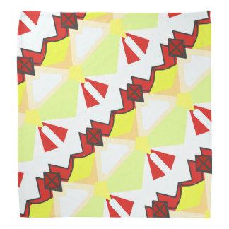 Röd och för vit abstrakt diagonal geometri scarf