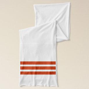 Röd och för vit randig Scarf Sjal bebbc1c45c118
