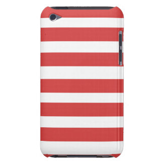 Röd och för vitrandtelefon fodral Case-Mate iPod touch case