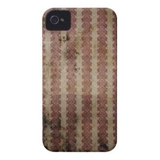 Röd och för vitvintagetryck för blackberry bold iPhone 4 hud