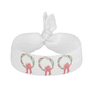 röd och grön helgdagkrandesign på hårtie hårband