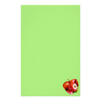 Röd och grön läcker äpplebrevpapper brevpapper