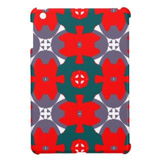 Röd och grön pläd iPad mini skal