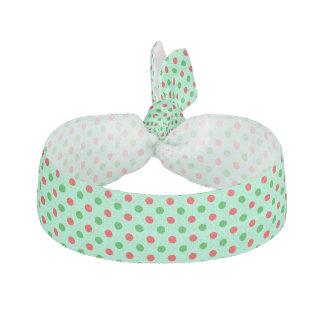 Röd och grön polka dots hårband