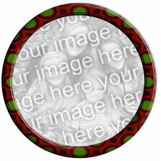 Röd och grön prydnadfotoram