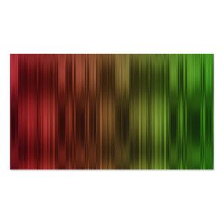 Röd och grön randgåvamärkre för helgdag set av standard visitkort