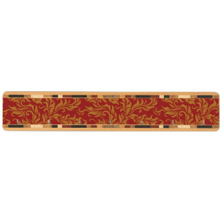Röd och guld- blommönster nyckelhängare