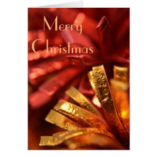 Röd och guld- julkort hälsningskort
