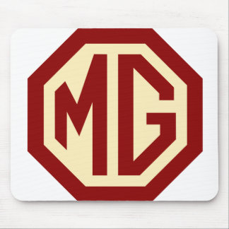 Röd och guld- MG-logotyp Mousepad Musmatta