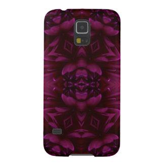 Röd och purpurfärgad blom- design galaxy s5 fodral