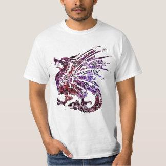 Röd och purpurfärgad drakeT-tröja T-shirts