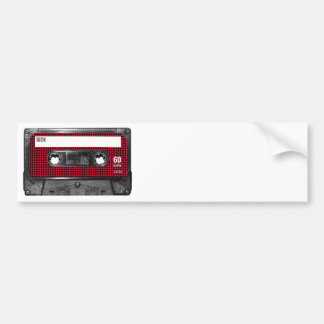 Röd och svart Houndstooth etikettkassett Bildekal