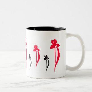 Röd och svart Irisesmugg Två-Tonad Mugg