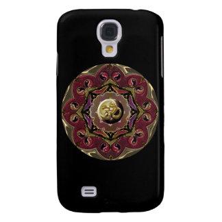 Röd och svart måneMandala Galaxy S4 Fodral