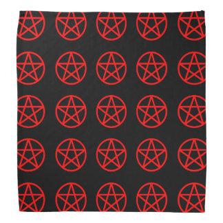 Röd och svart mång- PentacleBandana Scarf