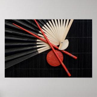Röd och svart Zen Poster