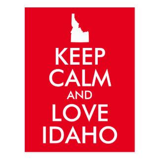 Röd och vitbehållalugn och kärlek Idaho Vykort