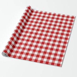 Röd och vitGingham som slår in papper Presentpapper