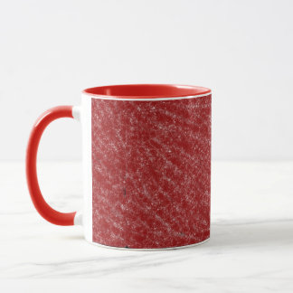Röd och vitmugg mugg