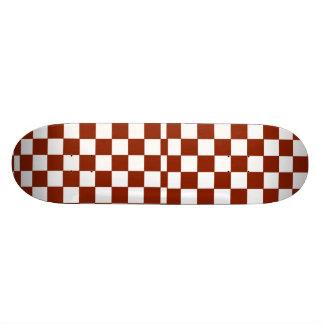 Röd och vitskateboard