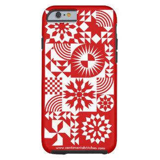 Röd och vittäckeiPhone 6 - röd gräns Tough iPhone 6 Case